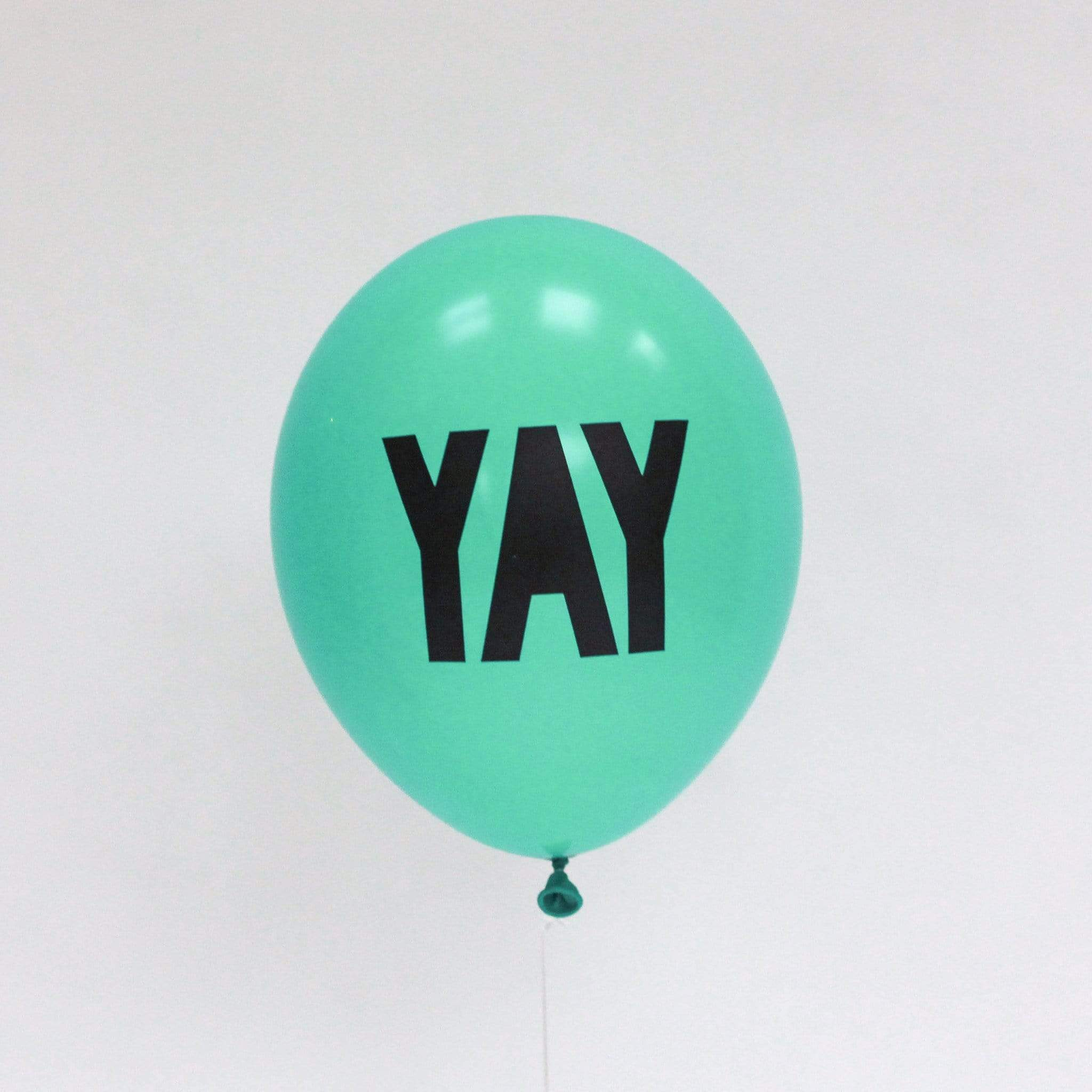 Mint Yay Balloons | Cool Balloons with YAY Script Writing