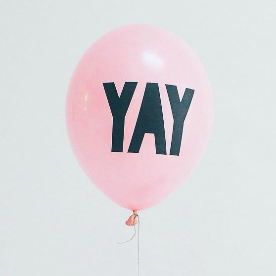 Yay Balloons Pink (5 Pack)