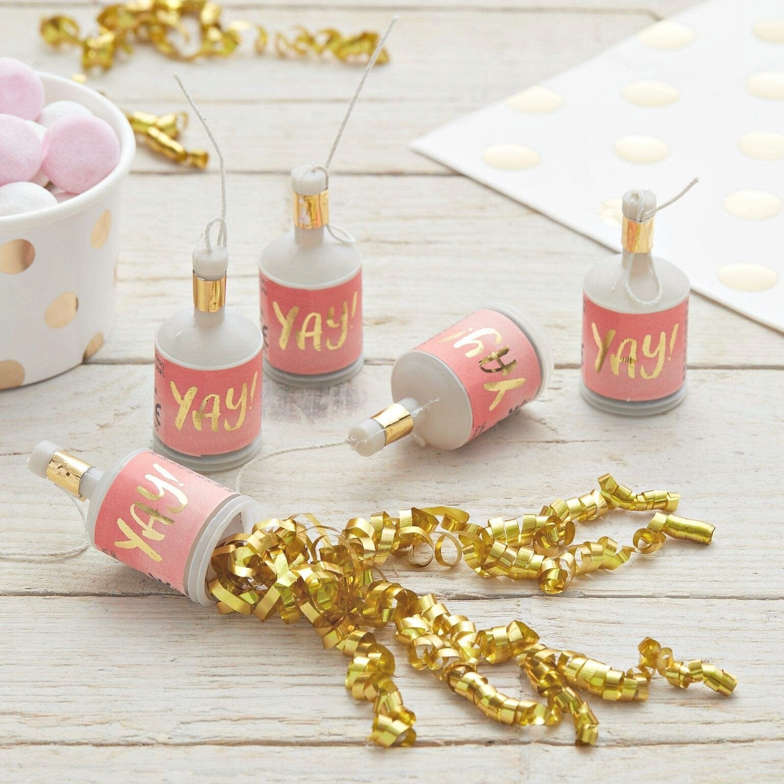 Yay Party Poppers | Stylish Party Poppers | Ginger Ray UK