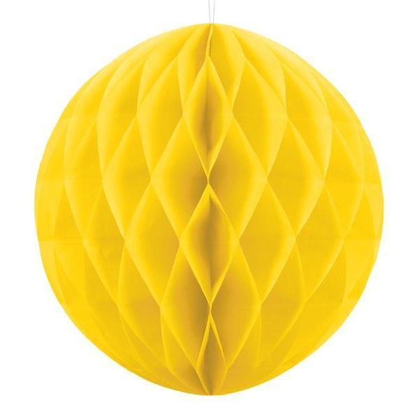 Yellow Honeycomb Balls | Paper Honeycomb Decorations in all the Colours