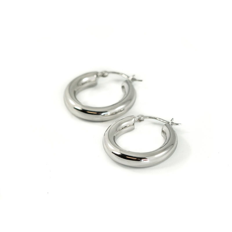 Chunky Silver Hoops