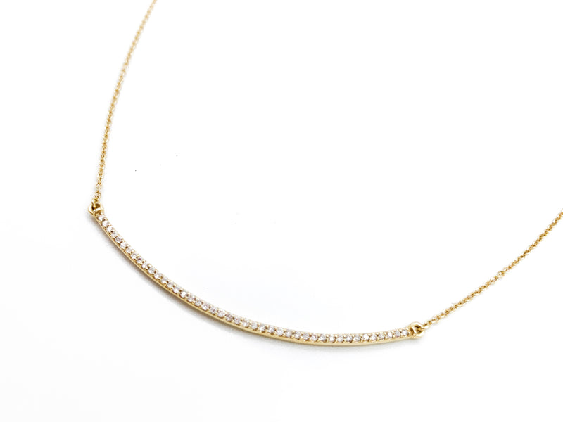 """The Angela"" - Gold Diamond Bar Necklace"