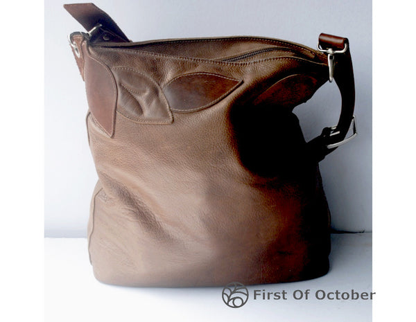 011066  shoulder bag leaves