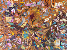 "Load image into Gallery viewer, ANIMAL LOVERS COLLECTION ""Hidden Bunnies Botanical"" 26x26 Inch Chiffon Scarf"