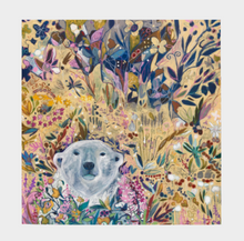"Load image into Gallery viewer, ANIMAL LOVERS COLLECTION ""King of the Summer North Botanical"" 26x26 Inch Chiffon Scarf"