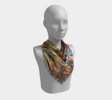 "Load image into Gallery viewer, ""Southern Botanical"" 26x26 Inch Chiffon Scarf"