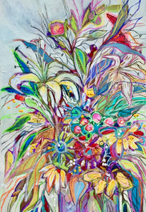 """Floral #13/ Daylily On The Left"" 8x10 Inch Canvas Reproduction"