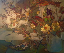 "Load image into Gallery viewer, ""Abstract Autumn"" 16x72 Inch Chiffon Scarf"