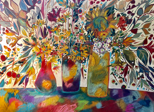"""Sundance Botanical"" Mixed Media Painting"