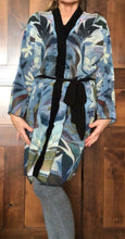 "Load image into Gallery viewer, THE ANIMAL LOVERS COLLECTION ""Two Egrets Botanical"" Chiffon Duster"