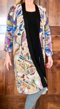 "Load image into Gallery viewer, THE ANIMAL LOVERS COLLECTION ""King of the Summer North Botanical"" Chiffon Duster"