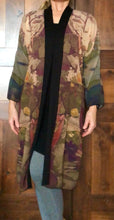 "Load image into Gallery viewer, ""Abstract Autumn Botanical"" Chiffon Duster"