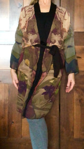 """Abstract Autumn Botanical"" Chiffon Duster"