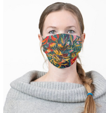 "Load image into Gallery viewer, ""Gnarly Sunflower Botanical"" Artisan Face Mask"