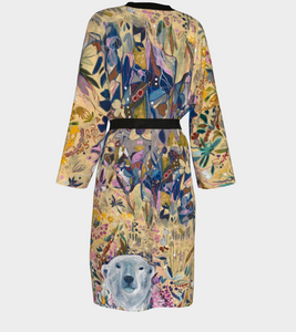 "THE ANIMAL LOVERS COLLECTION ""King of the Summer North Botanical"" Chiffon Duster"