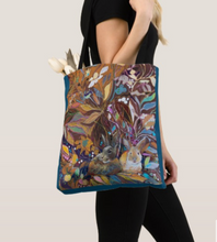 "Load image into Gallery viewer, ""Hidden Bunnies Botanical"" Canvas Tote"