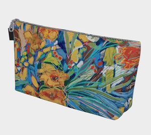 "NEW!!!       ""Stella D'Oro Daylilies Botanical"" Beauty Pouch"