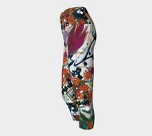 "Load image into Gallery viewer, NEW!!!   ""Two White Lilies Botanical"" Capri  Leggings"