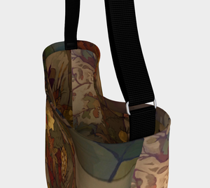 """Abstract Autumn Botanical"" Neoprene Tote Bag"