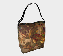 "Load image into Gallery viewer, ""Abstract Autumn Botanical"" Neoprene Tote Bag"