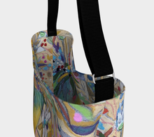 "Load image into Gallery viewer, ""Abstract Botanical With Pink"" Neoprene Tote"