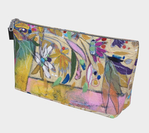 """Abstract Botanical With Pink"" Beauty Pouch"