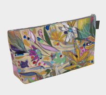 "Load image into Gallery viewer, ""Abstract Botanical With Pink"" Beauty Pouch"
