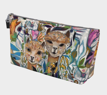 "Load image into Gallery viewer, NEW!!! ""Alpaca Buddies Botanical"" Beauty Pouch"