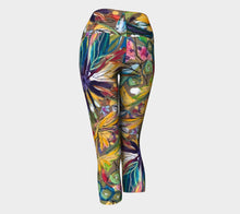 "Load image into Gallery viewer, ""Floral Explosion Botanical"" Capri Leggings"