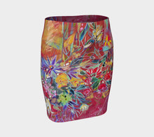 "Load image into Gallery viewer, ""Celebration In Red"" Artisan Fitted Skirt"