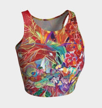 "Load image into Gallery viewer, ""Celebration In Red"" Cropped Yoga Tank"