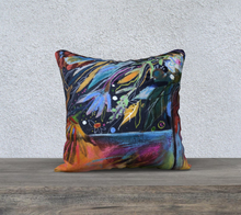 "Load image into Gallery viewer, NEW!!!   ""Dark Botanical"" 18x18 Inch Velveteen Pillow Case"