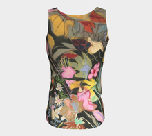 "Load image into Gallery viewer, ""Fawn Botanical"" Peachskin Jersey Fitted Tank Top"