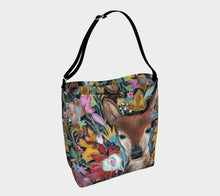 "Load image into Gallery viewer, NEW!! ANIMAL LOVERS COLLECTION ""Fawn Botanical"" Neoprene Tote"