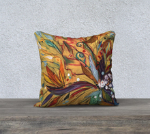 "Load image into Gallery viewer, NEW!!!       ""Fiddlehead Fern Botanical"" 18x18 Inch Velveteen Pillow Case"