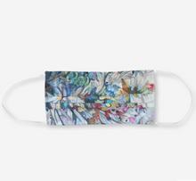 "Load image into Gallery viewer, ""Floral #7/White Daisies-AIW Botanical."" Artisan Face Mask"