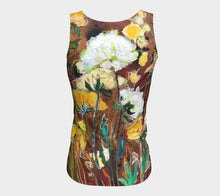 "Load image into Gallery viewer, ""Golden Ranunculus"" Peachskin Fitted Tank Top"