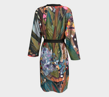 "Load image into Gallery viewer, ""Midnight Garden Botanical"" Long Chiffon Duster"