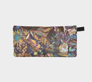 "ANIMAL LOVERS COLLECTION ""Hidden Bunnies Botanical"" Trinket Purse"