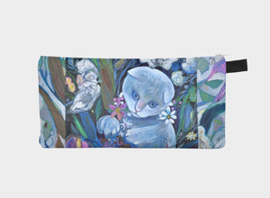 """White Kitten Botanical"" Trinket Purse"