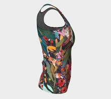 "Load image into Gallery viewer, ""Midnight Garden"" Peachskin Fitted Tank Top"