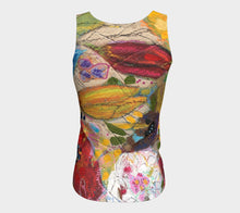 "Load image into Gallery viewer, ""One Yellow Tulip"" Long Fitted tank Top"