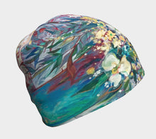 "Load image into Gallery viewer, ""Orchids and Such"" Artisan Beanie Hat"