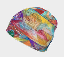 "Load image into Gallery viewer, NEW!! ""Celebration In Red Botanical"" Beanie"