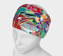 "Load image into Gallery viewer, ""Celebration In Red Botanical"" Headband"