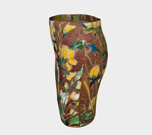 "Load image into Gallery viewer, ""Golden Ranunculus Botanical"" Artisan Fitted Skirt"