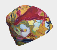 "Load image into Gallery viewer, ""Red Rabbit Run Botanical"" Beanie Size Sm./Med."
