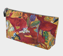 "Load image into Gallery viewer, ""Red Rabbit Run Botanical"" Beauty Pouch"