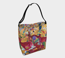 "Load image into Gallery viewer, ""Red Rabbit Run Botanical"" Neoprene Tote"
