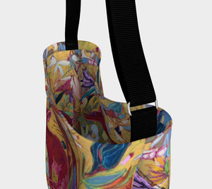 """Red Rabbit Run Botanical"" Neoprene Tote"